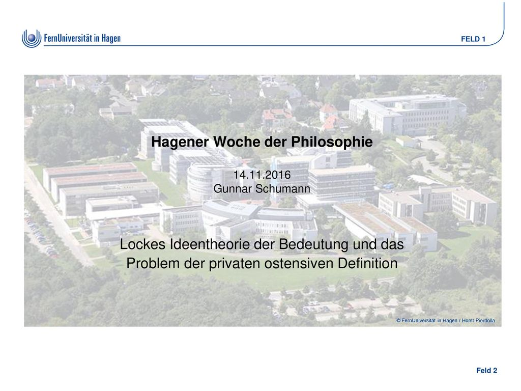Hagener Woche der Philosophie 14.11.2016 Gunnar Schumann