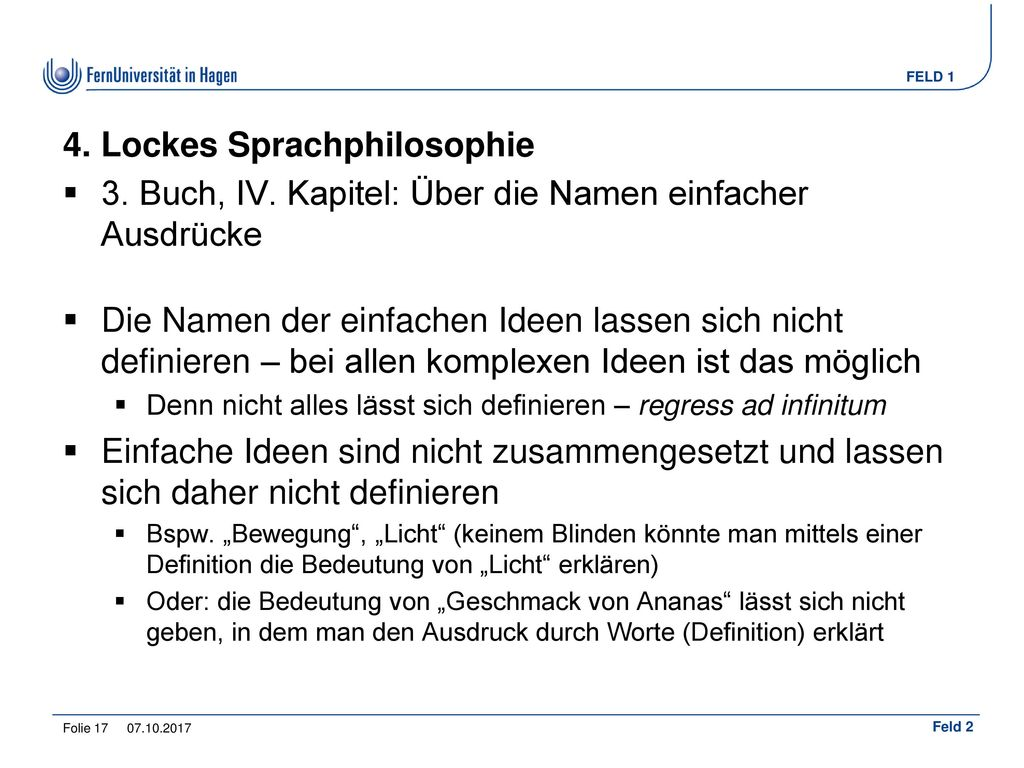 4. Lockes Sprachphilosophie