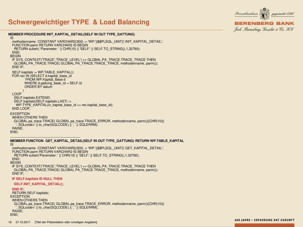 Schwergewichtiger TYPE & Load Balancing