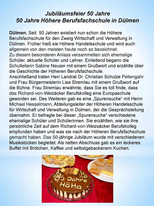 50 Jahre Höhere Berufsfachschule in Dülmen