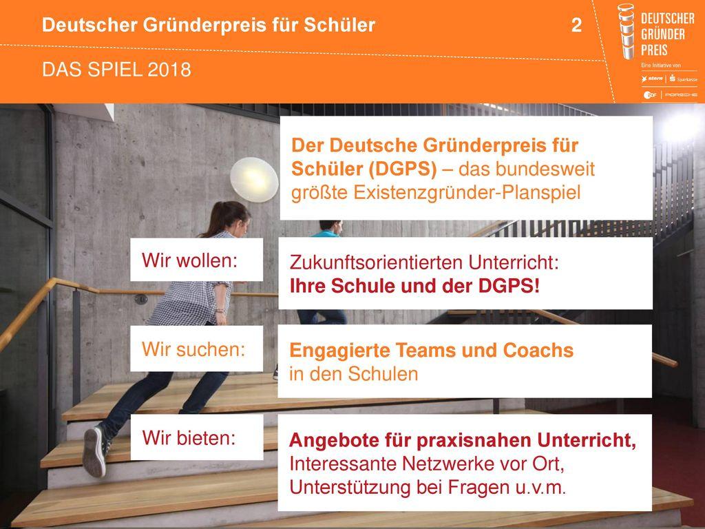 Das spiel 2018 Der Deutsche Gründerpreis für Schüler (DGPS) – das bundesweit größte Existenzgründer-Planspiel.