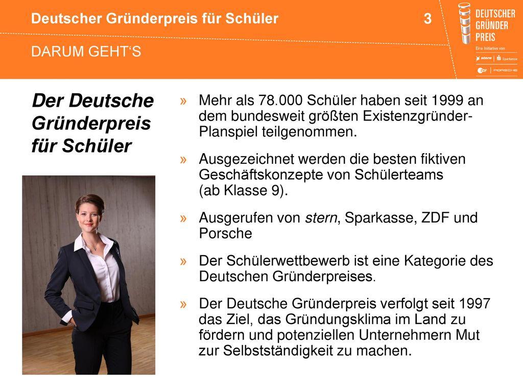 Der Deutsche Gründerpreis für Schüler