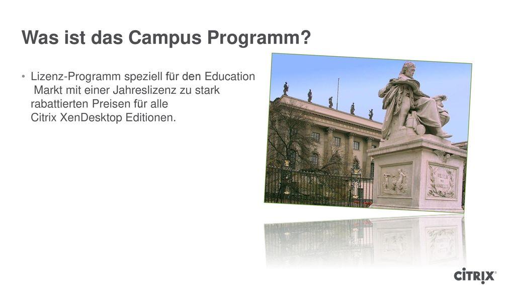 Was ist das Campus Programm