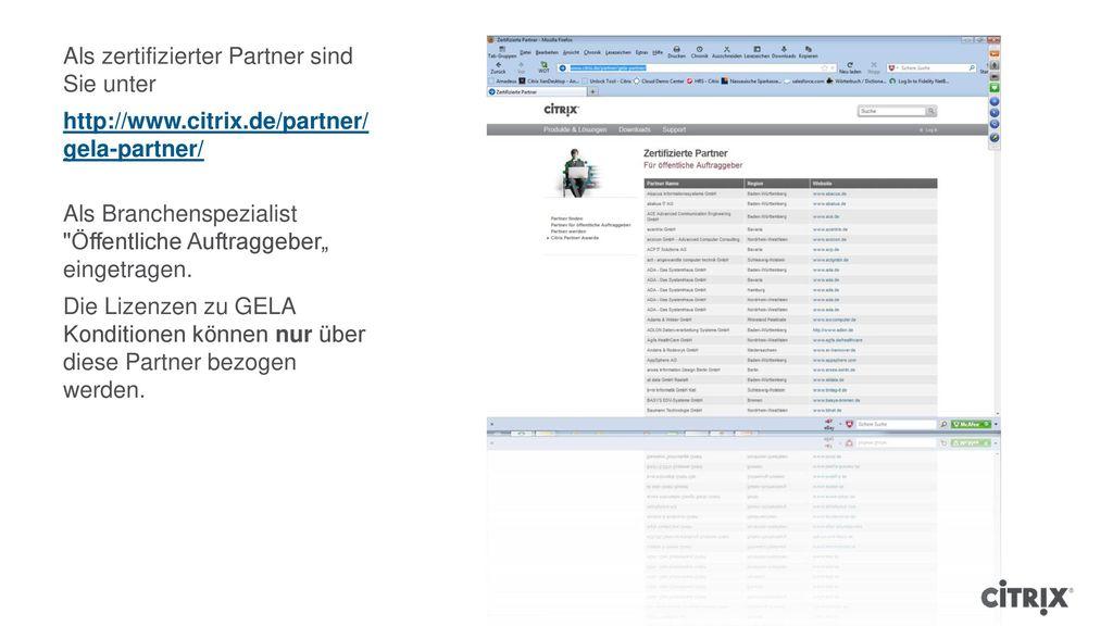 Als zertifizierter Partner sind Sie unter