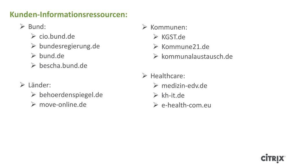 Kunden-Informationsressourcen: