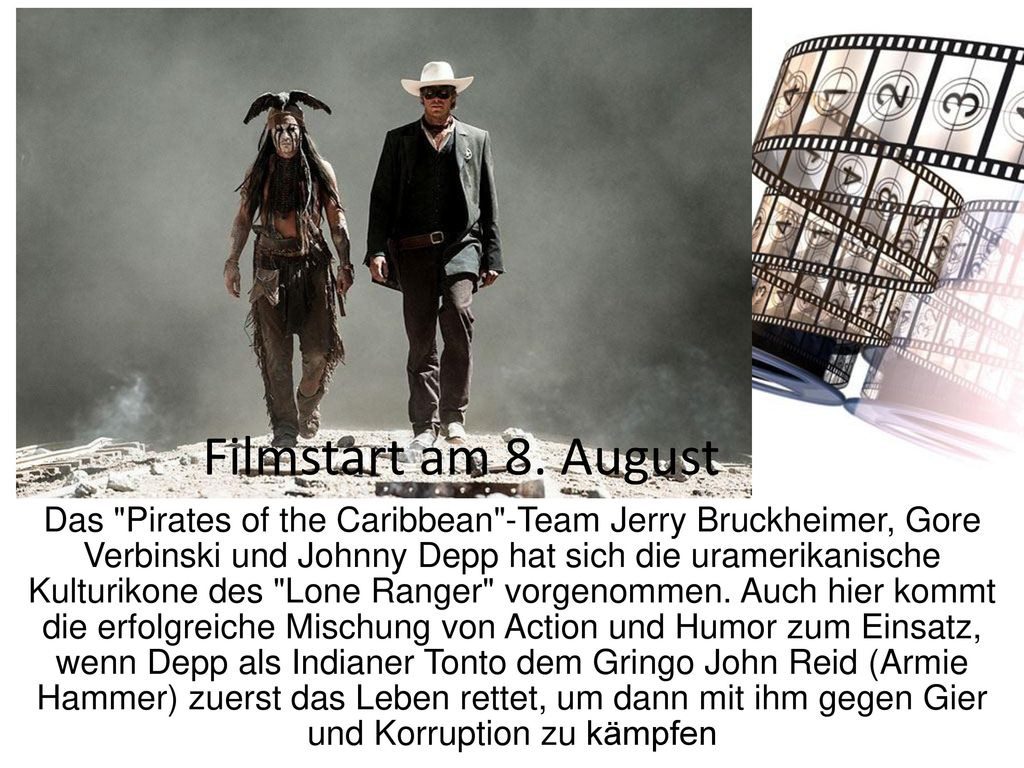 Filmstart am 8. August