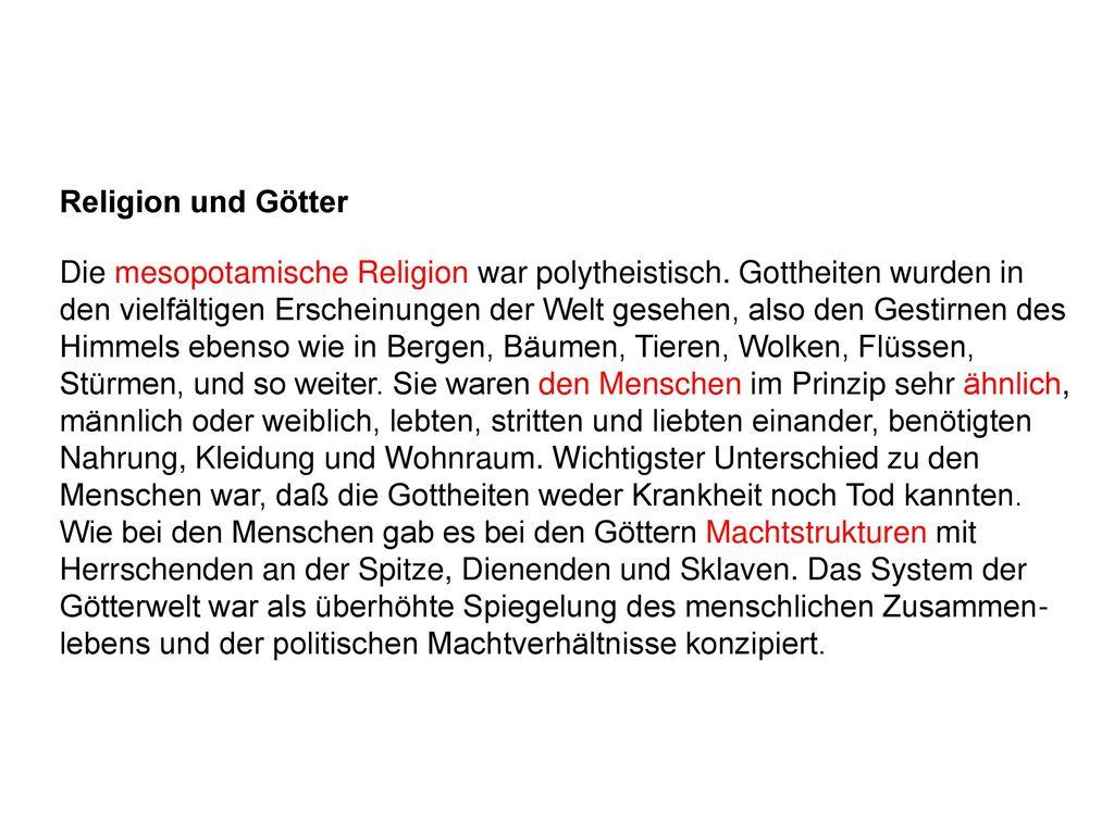 Religion und Götter