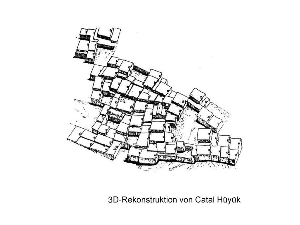3D-Rekonstruktion von Catal Hüyük