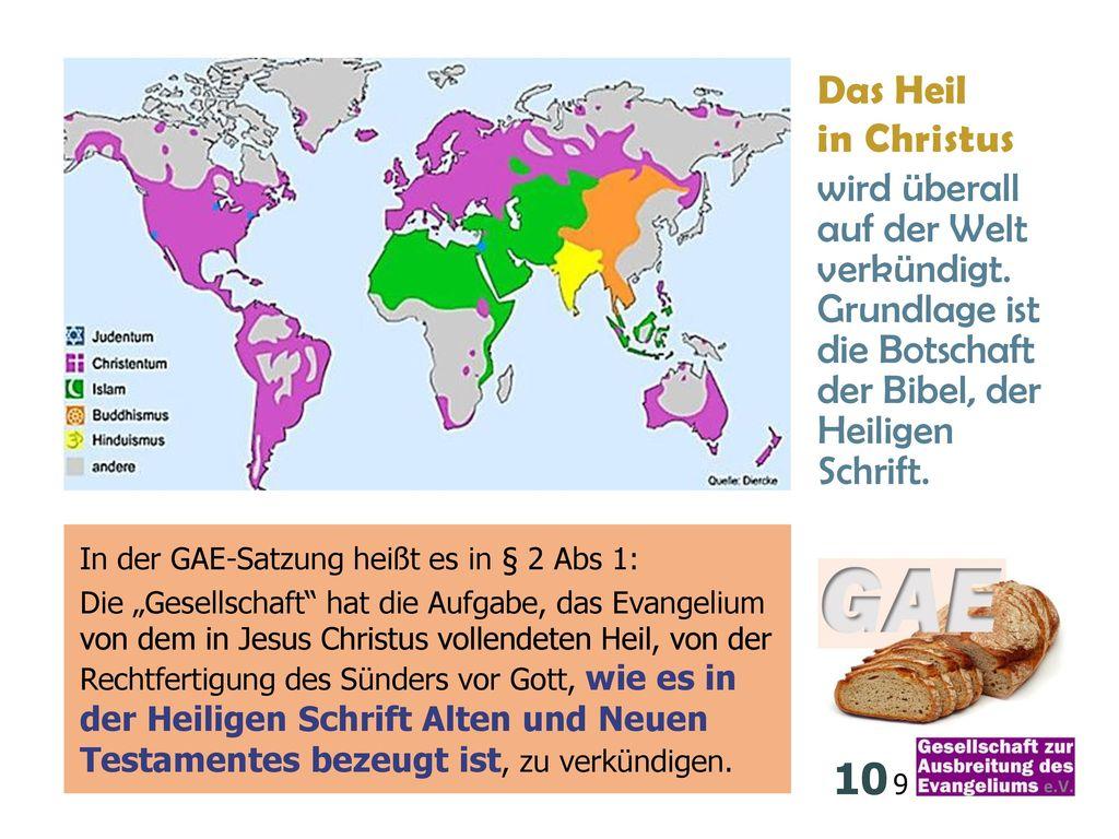 10 9 Das Heil in Christus wird überall auf der Welt verkündigt.