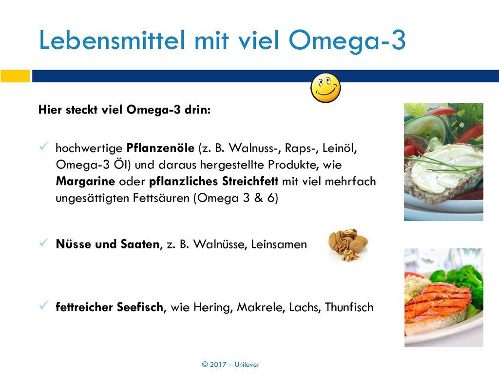 Lebensmittel mit viel Omega-3