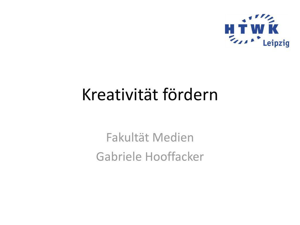 Fakultät Medien Gabriele Hooffacker