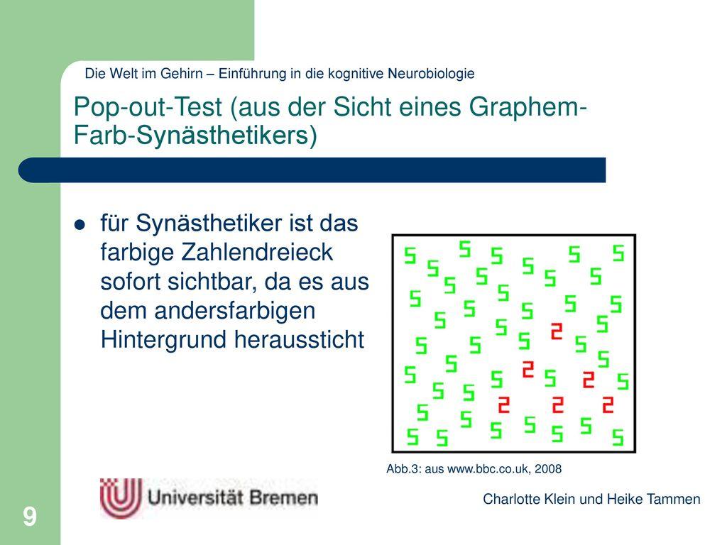 Pop-out-Test (aus der Sicht eines Graphem-Farb-Synästhetikers)