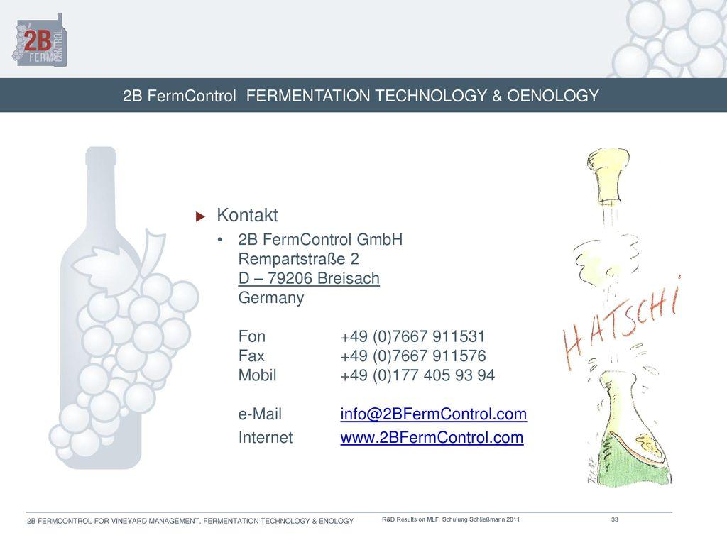 2B FermControl FERMENTATION TECHNOLOGY & OENOLOGY