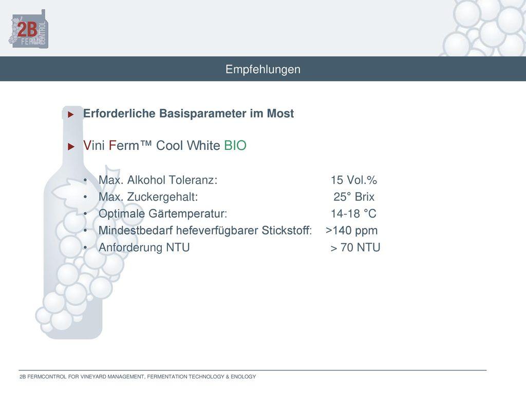 Vini Ferm™ Cool White BIO