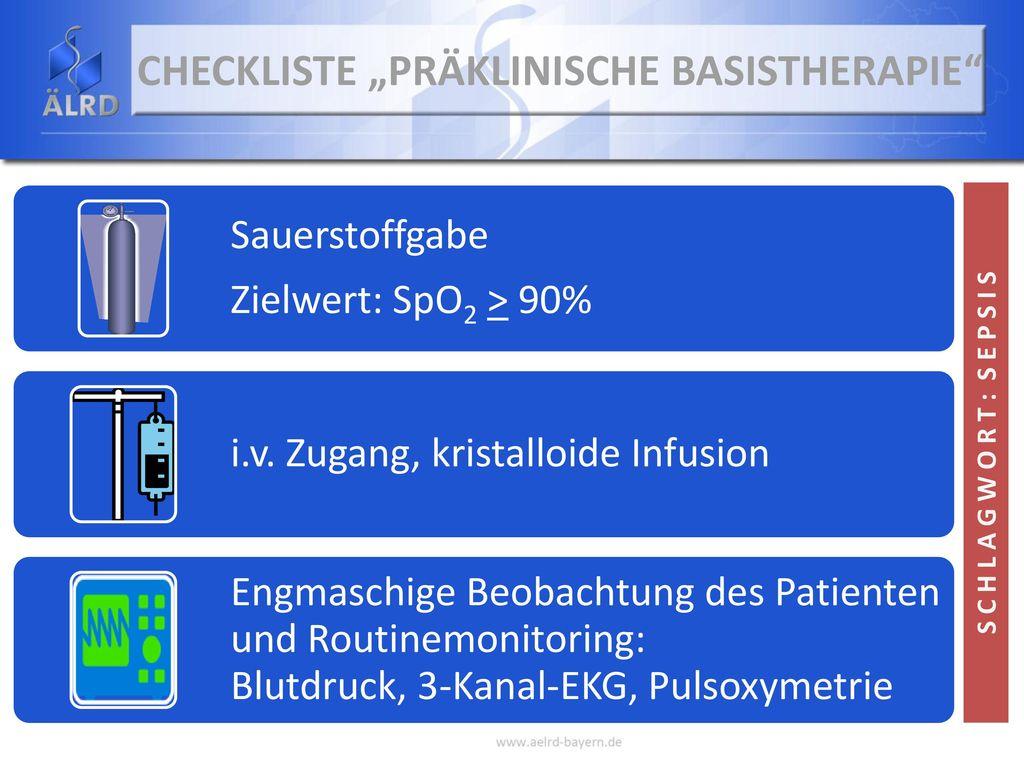 """Checkliste """"Präklinische Basistherapie"""