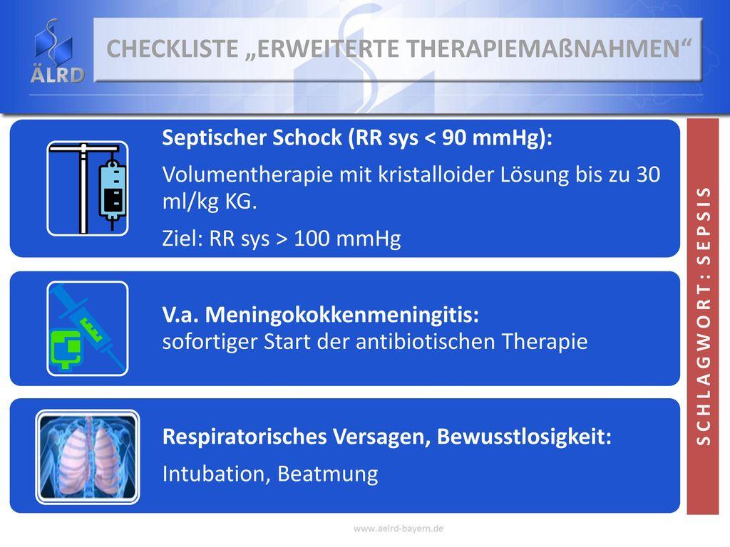 """Checkliste """"Erweiterte Therapiemaßnahmen"""