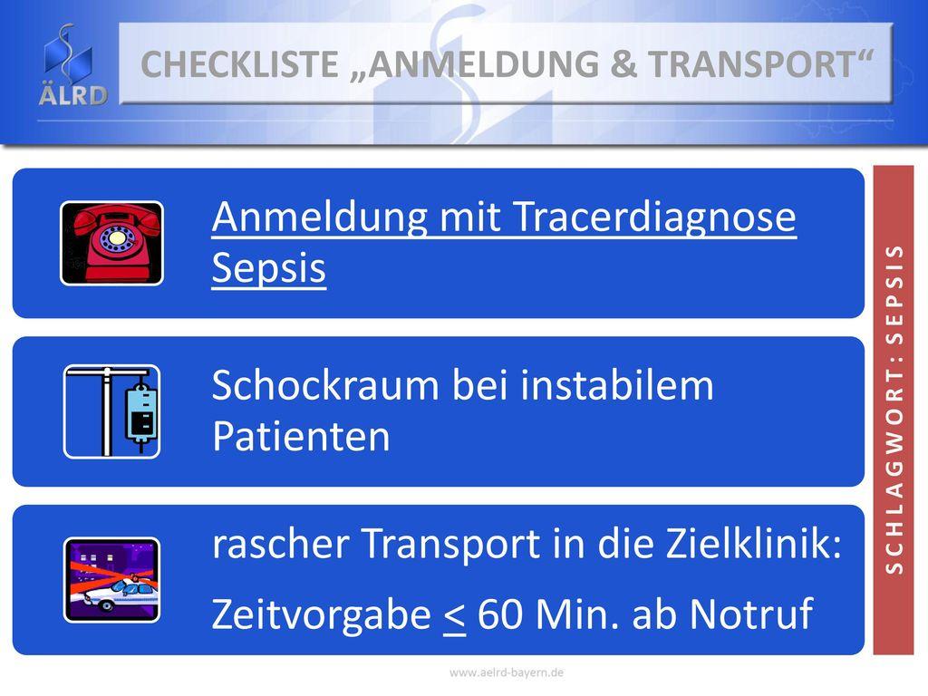 """Checkliste """"Anmeldung & Transport"""