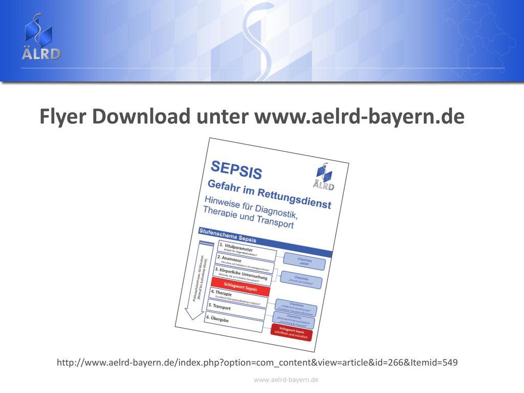 Flyer Download unter www.aelrd-bayern.de