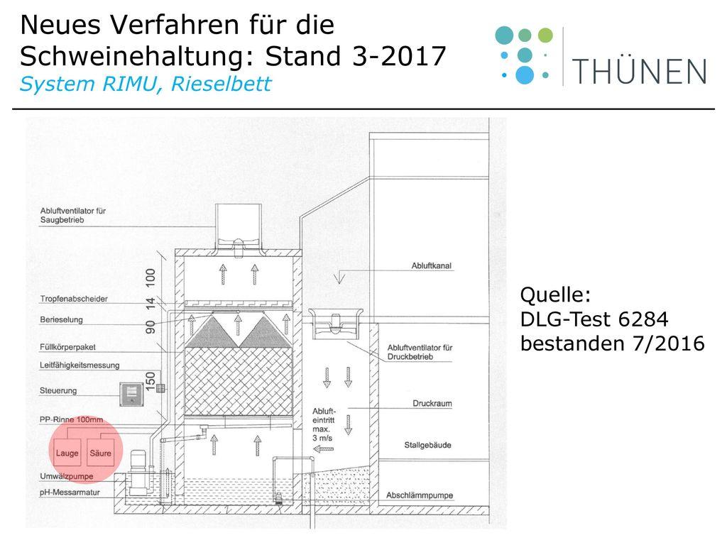 Neues Verfahren für die Schweinehaltung: Stand 3-2017 System RIMU, Rieselbett