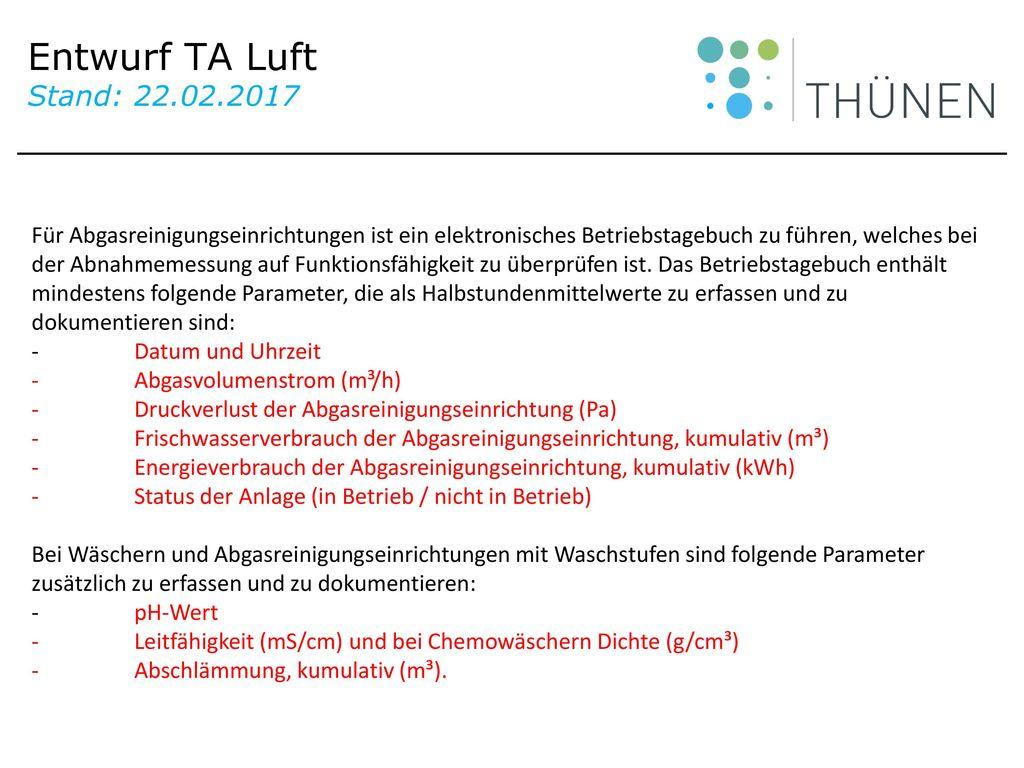 Entwurf TA Luft Stand: 22.02.2017