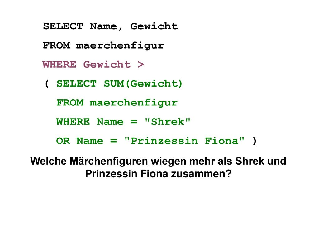 OR Name = Prinzessin Fiona )