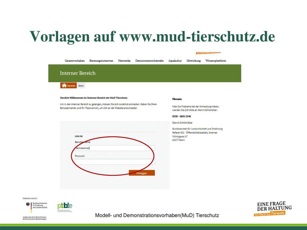 Vorlagen auf www.mud-tierschutz.de
