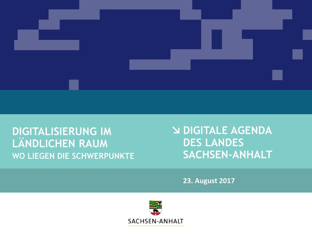 Digitale Agenda des Landes Sachsen-Anhalt