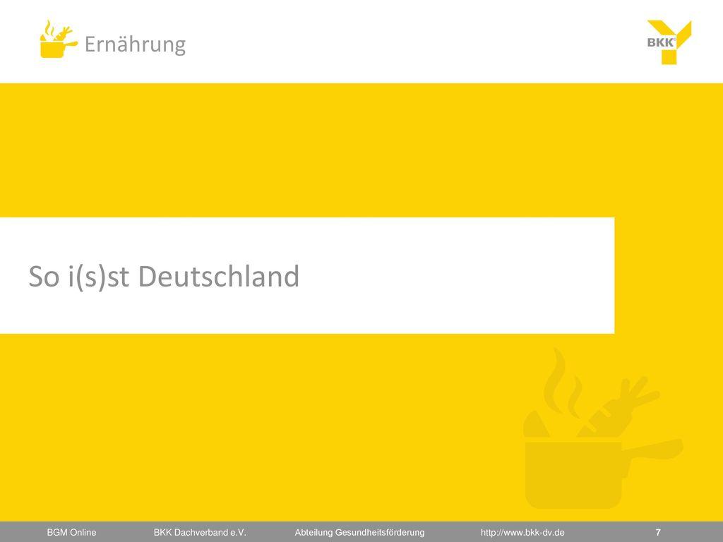 So i(s)st Deutschland