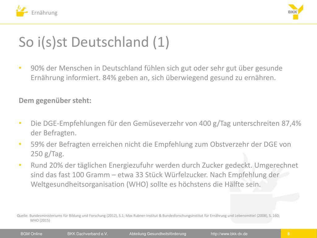 So i(s)st Deutschland (1)