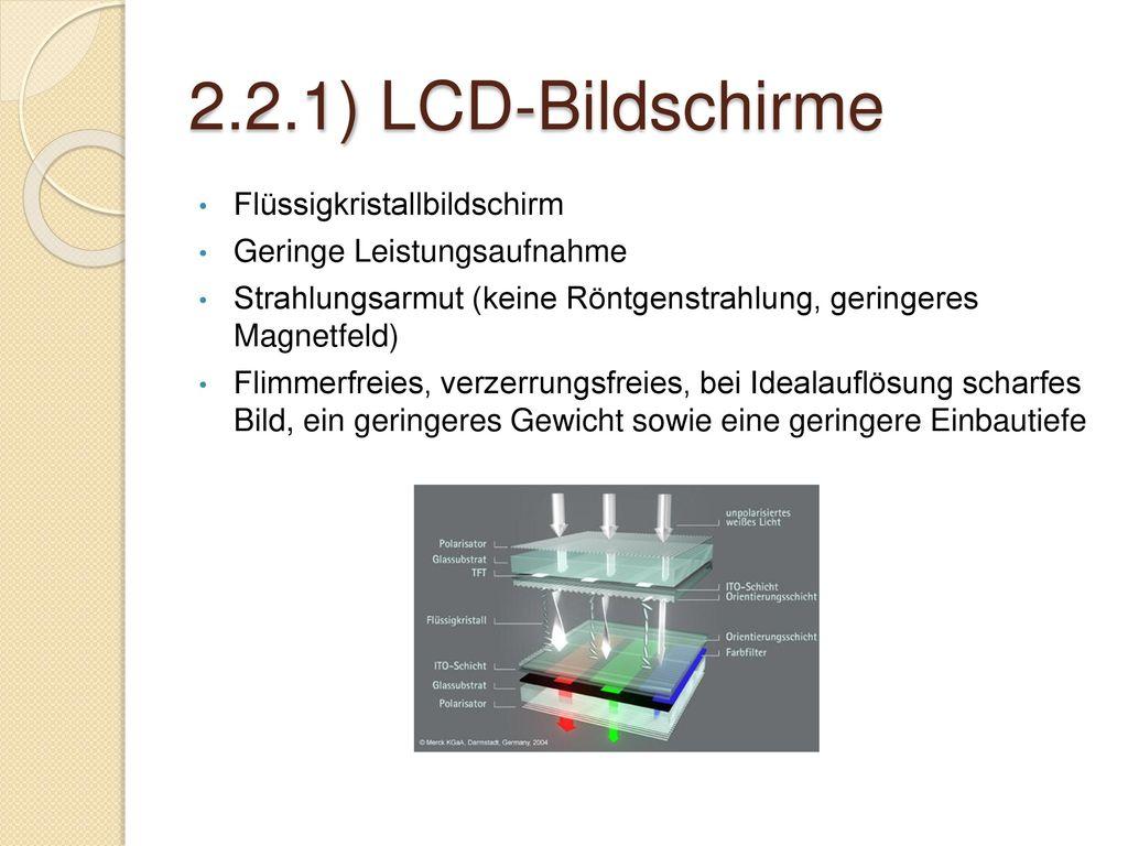2.2.1) LCD-Bildschirme Flüssigkristallbildschirm