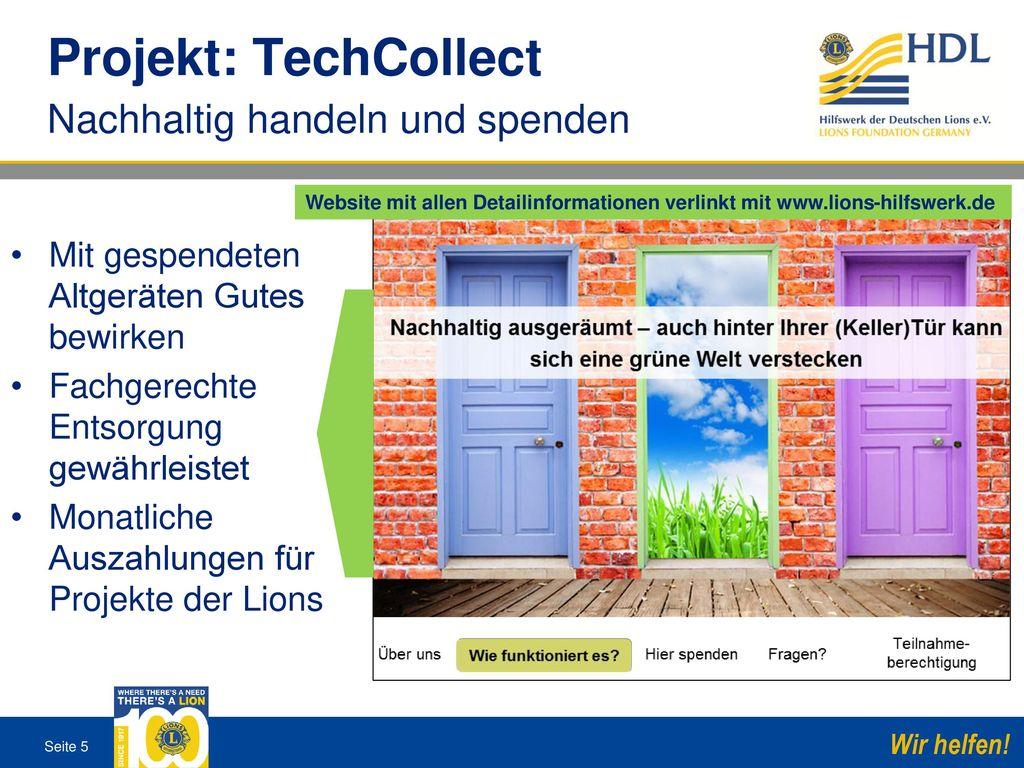 Projekt: TechCollect Nachhaltig handeln und spenden