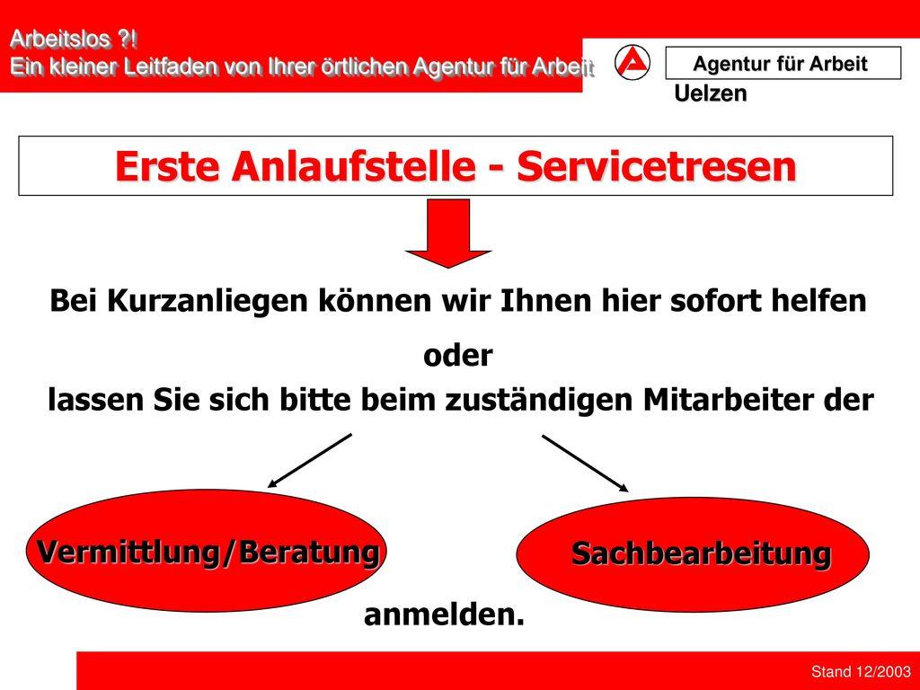 Erste Anlaufstelle - Servicetresen