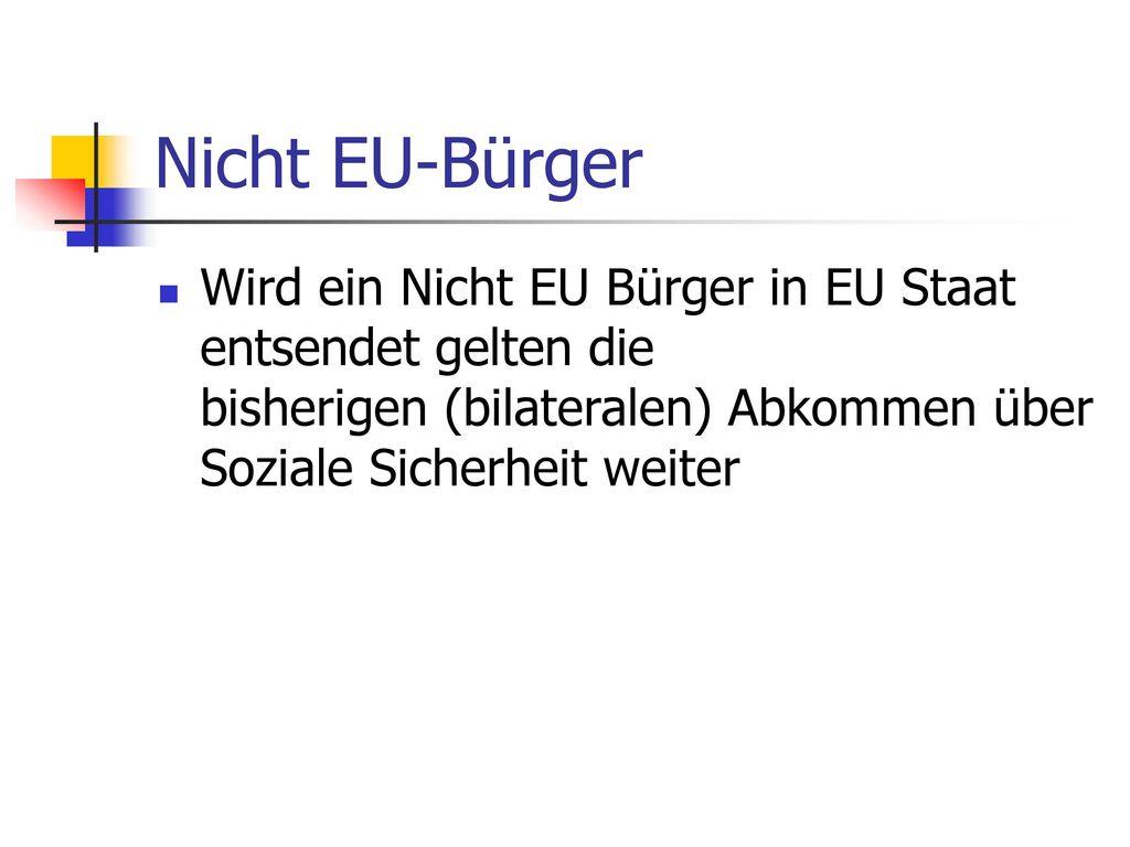 Nicht EU-Bürger