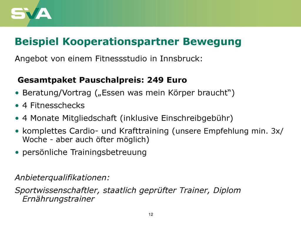 Beispiel Kooperationspartner Bewegung