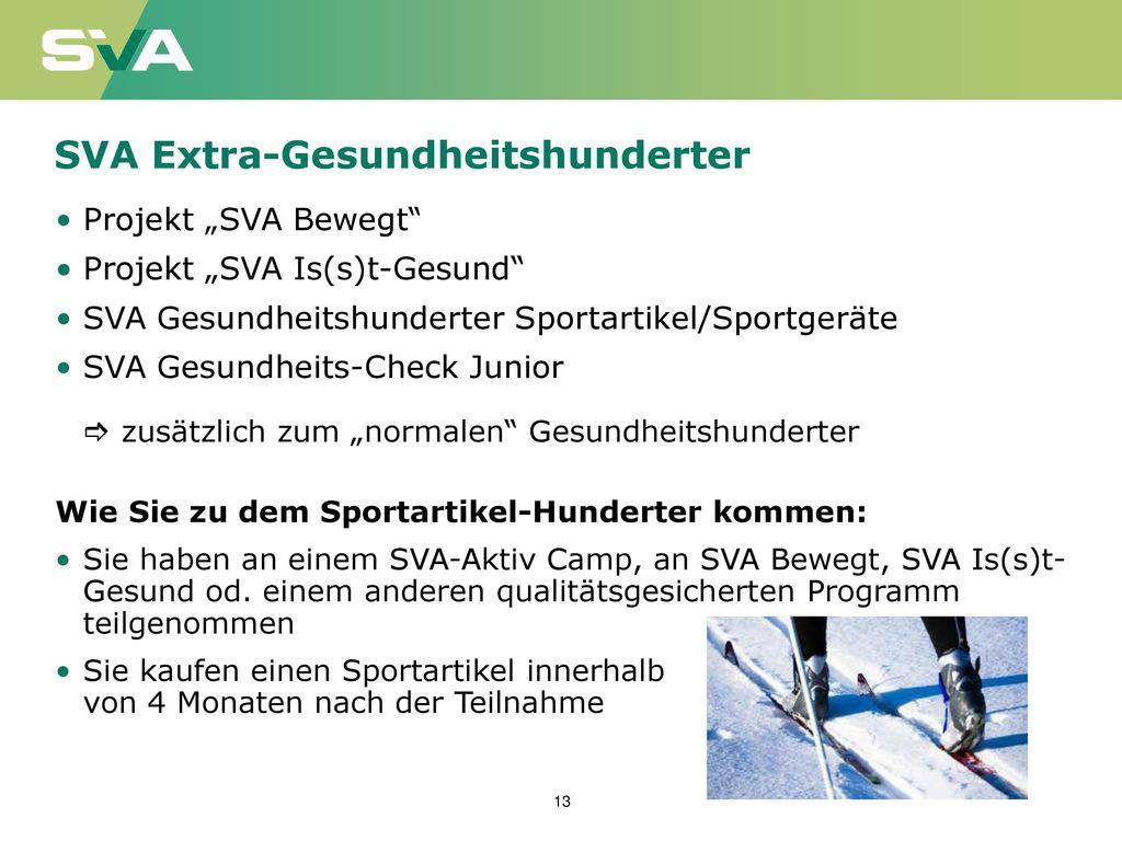 SVA Extra-Gesundheitshunderter