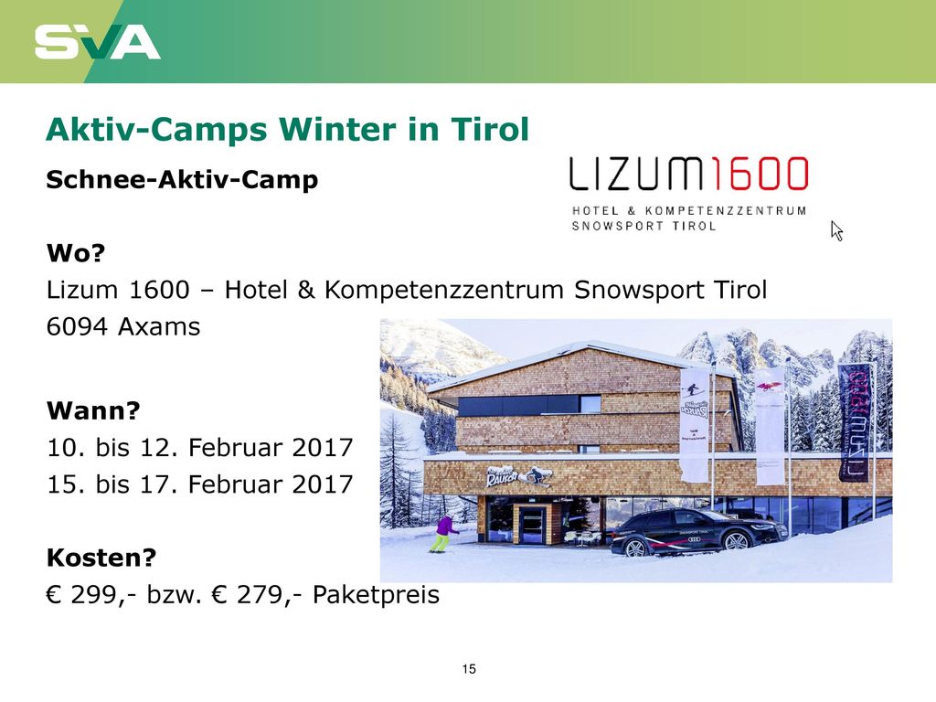 Aktiv-Camps Winter in Tirol