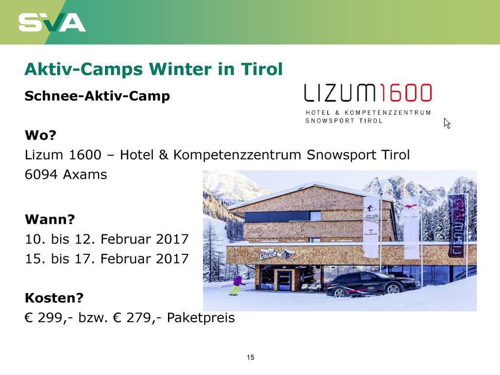 Aktiv-Camps Winter in Tirol