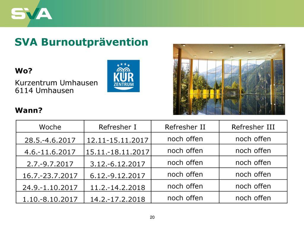 SVA Burnoutprävention