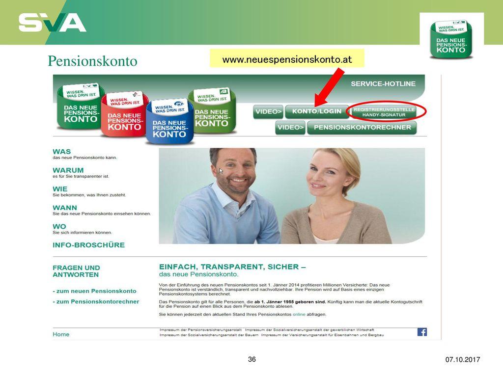 Pensionskonto www.neuespensionskonto.at 07.10.2017