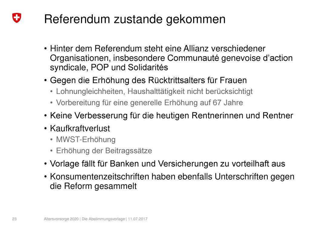 Referendum zustande gekommen