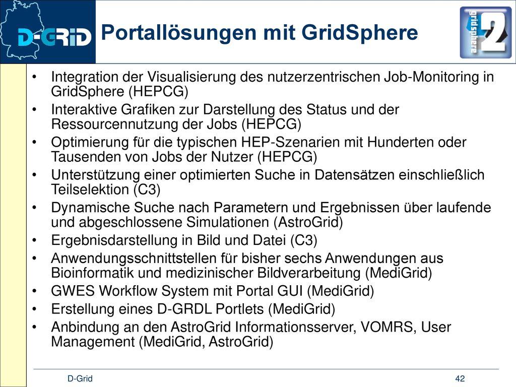 Portallösungen mit GridSphere
