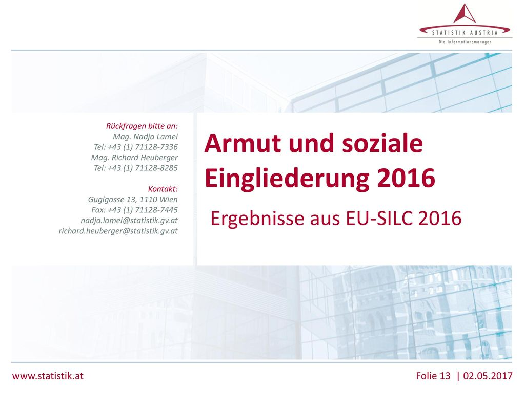 Armut und soziale Eingliederung 2016