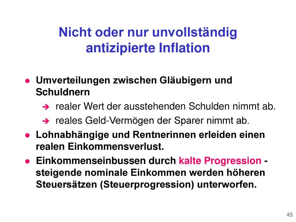 Vollständig antizipierte Inflation