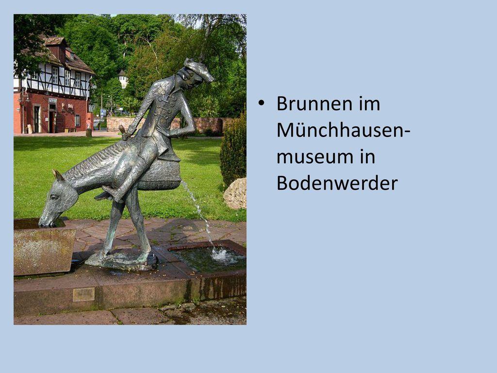 Brunnen im Münchhausen-museum in Bodenwerder