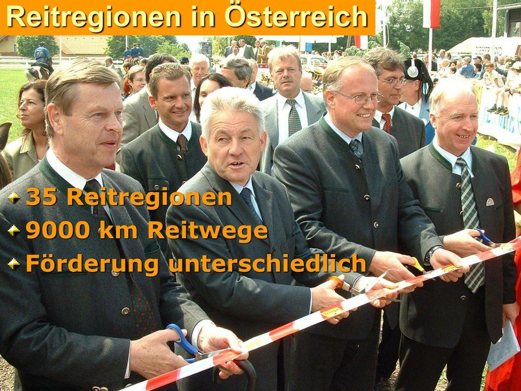 Reitregionen in Österreich