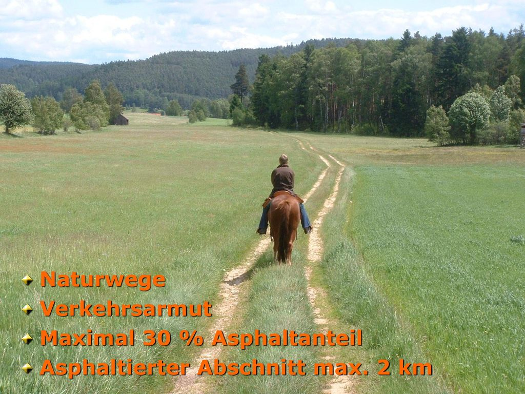 Naturwege Verkehrsarmut Maximal 30 % Asphaltanteil Asphaltierter Abschnitt max. 2 km