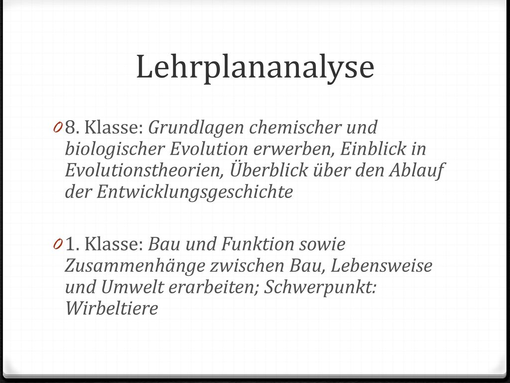 Lehrplananalyse