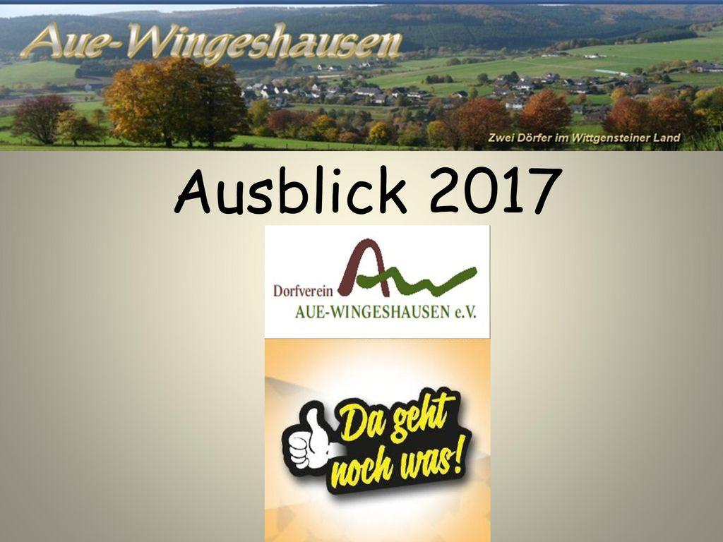 Ausblick 2017