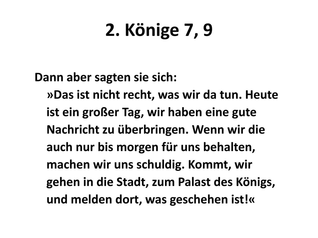 2. Könige 7, 9
