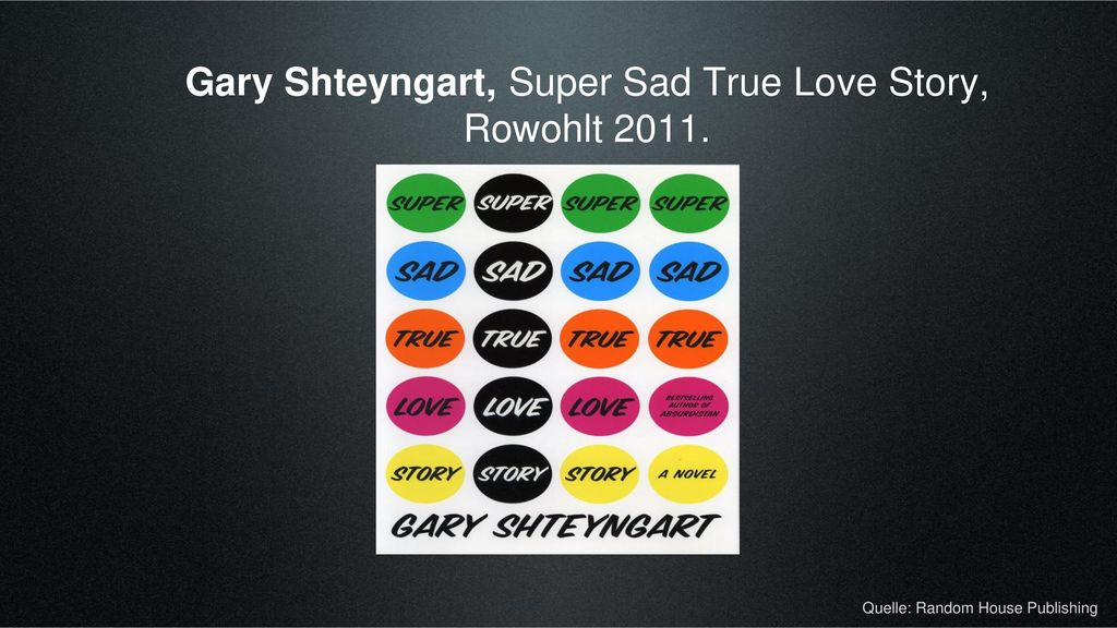 Gary Shteyngart, Super Sad True Love Story, Rowohlt 2011.